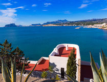 Mediterranean houses in Moraira  at Alicante Stock Images