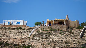 Mediterranean houses. The typical Mediterranean houses from Lampedusa island, Sicily, Italy Stock Image