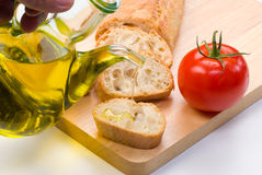 Mediterranean ingredients Royalty Free Stock Image