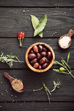 Mediterranean ingredients Royalty Free Stock Photos