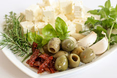 Mediterranean ingredients Royalty Free Stock Photos