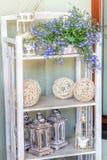 Mediterranean interior - artistic shelves Royalty Free Stock Photos