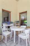 Mediterranean interior - dining room Royalty Free Stock Image