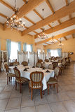 Mediterranean interior - elegant dinner Royalty Free Stock Photography