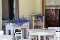 Mediterranean interior - garden furniture Royalty Free Stock Photography