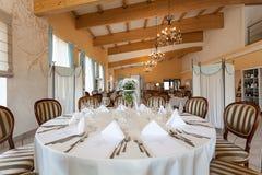 Mediterranean interior - reception table Royalty Free Stock Photo