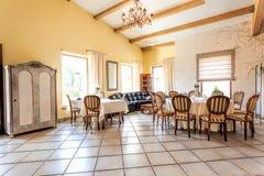 Mediterranean interior - stylish apartment Royalty Free Stock Photo