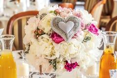 Mediterranean interior - wedding bunch. Mediterranean interior - a cream and pink wedding bunch Stock Image