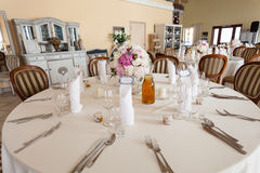 Mediterranean interior - wedding table Stock Images