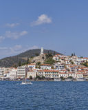 Mediterranean island view, Poros Greece Royalty Free Stock Images