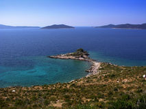 Mediterranean landscape. Adriatic, Mediterranean landscape near Dubrovnik in Croatia Stock Photo