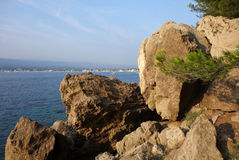Mediterranean landscape. Coastline in the south of france. Mediterranean coast Stock Photo