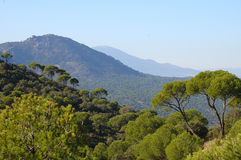 Mediterranean landscape. Central mountains in Spain royalty free stock photography