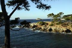 Mediterranean landscape in Bandol, France. Mediterranean coast landscape in Bandol, French riviera, France Stock Image