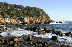 Mediterranean landscape in Bandol, France Royalty Free Stock Photo