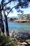 Mediterranean landscape in Capelan, Bandol, France Stock Photos