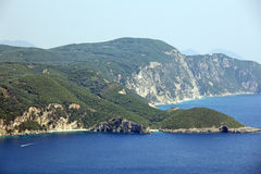 Mediterranean landscape. Curfu Island. Greece. Royalty Free Stock Images