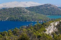 Mediterranean landscape - island Dugi otok Royalty Free Stock Photo