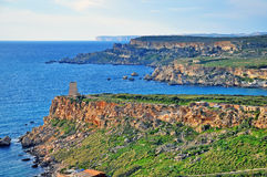 Mediterranean landscape in Malta Royalty Free Stock Photo