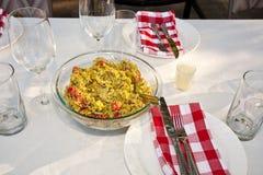 Mediterranean leek salad Stock Images