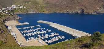 Mediterranean marina panorama Stock Photos