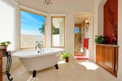 Mediterranean master bathroom Stock Image
