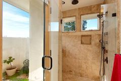 Mediterranean master bathroom Royalty Free Stock Photo