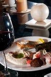 Mediterranean mezze sampler plate Stock Image