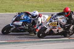 Mediterranean Motorcycling Championship Royalty Free Stock Image