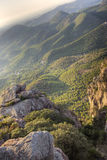 Mediterranean mountainous landscape Stock Images