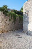 Mediterranean Narrow stone paved street Stock Images
