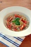 Mediterranean noodle soup Stock Image
