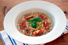 Mediterranean noodle soup Royalty Free Stock Photos