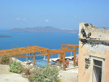 Mediterranean Ocean View. A Mediterranean ocean view on the Greek island of Santorini royalty free stock photo