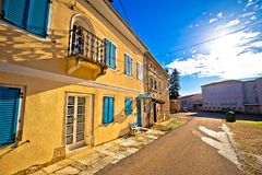 Mediterranean old stone street in town of Vizinada royalty free stock photo