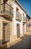 Mediterranean old town. Street in Denia, Costa Blanca, Spain Royalty Free Stock Photo