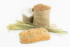 Mediterranean olive bread and products. Royalty Free Stock Photos