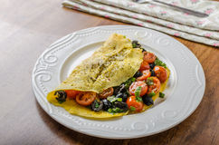 Mediterranean omelette Royalty Free Stock Images