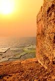 Mediterranean Orange Sunset Royalty Free Stock Images