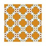 Mediterranean ornament repetitive with ancient color schema which are orange, red, green. Vector has taken in Izmir at Turkey vector illustration