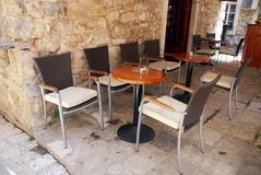 Mediterranean outdoor cafe Royalty Free Stock Image