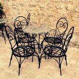 Mediterranean outdoor cafe Royalty Free Stock Photos