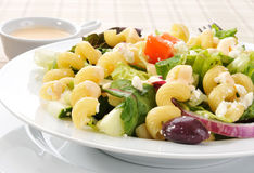 Mediterranean Pasta Salad Stock Photos