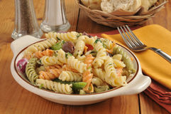 Mediterranean pasta salad Royalty Free Stock Photography