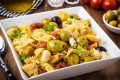 Mediterranean pasta salad Royalty Free Stock Image