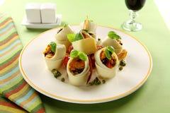 Mediterranean Pasta Tubes Stock Photography