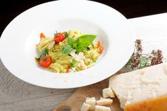 Mediterranean pasta with vegetables Stock Photography