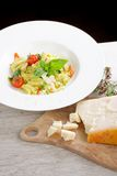 Mediterranean pasta with vegetables Royalty Free Stock Photography