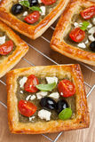 Mediterranean pastry with pesto and Veg Royalty Free Stock Photos