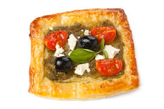 Mediterranean pastry with pestoand Veg Royalty Free Stock Images